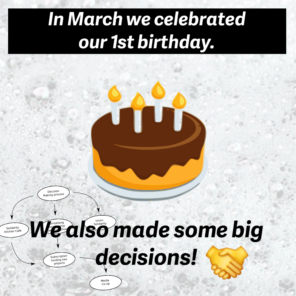 In March 2021, we celebrated our first birthday as a project.  We also made some big decisions.